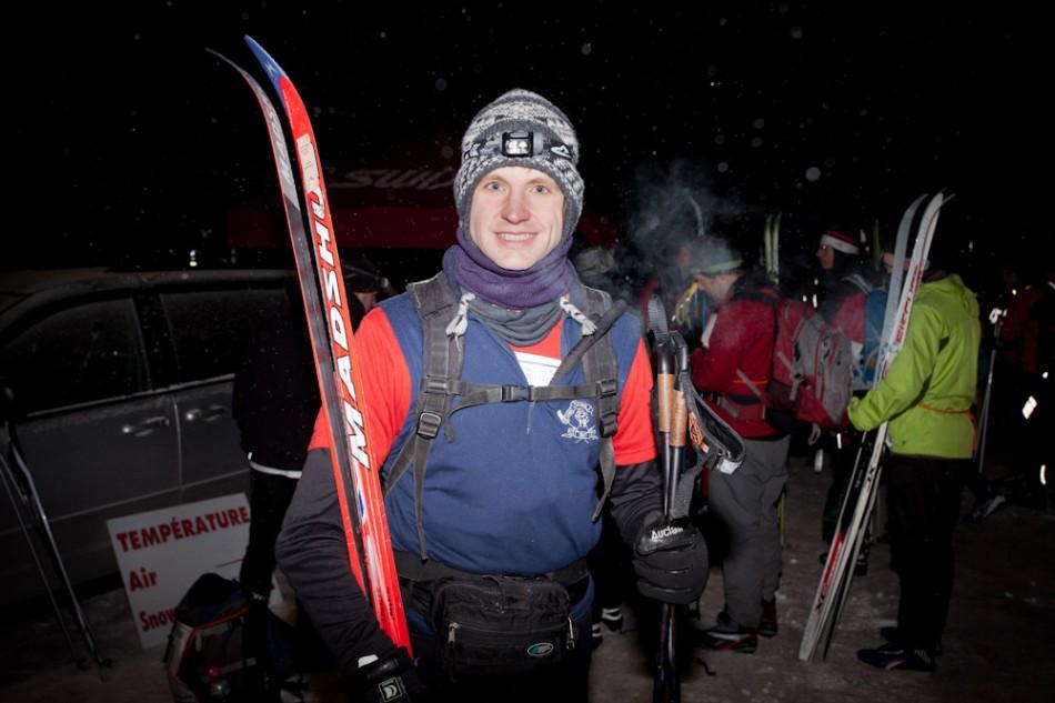 Ski marathon startline