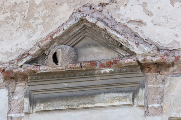 Honero nest on facade