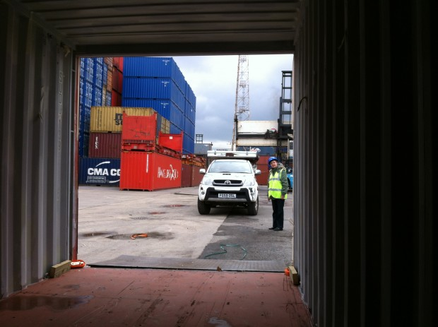 Container terminal, Tilbury, London.
