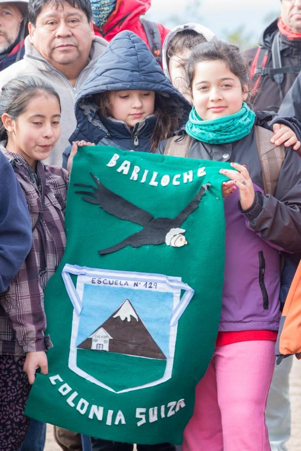 Schoolchildren attending the 2014 Condor liberation.